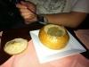 Polnische Suppe, im Brot serviert!