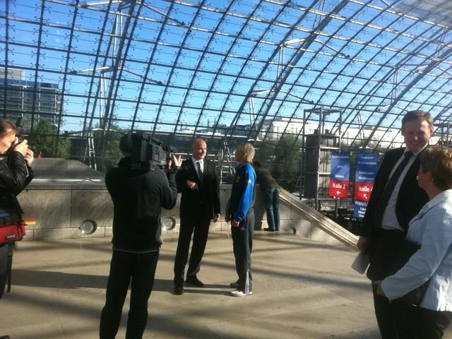 Die Eröffnung der Messe mit dem Leipziger Bürgermeister.
