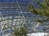 Stahlstreben tragen die Glaskuppel in Leipzig.