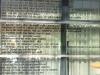 Hier konnte man gut Zeit verbringen, um die Sprüche an den verglasten  Wänden zu lesen.