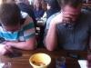 Nächsten Tag waren wir wieder im Enchilada. Dieses Mal zum brunchen und für das millionste Ascension-Spiel.
