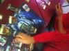 Tobias auf seiner Spektraltiger-Spielmatte!