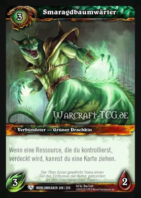 Der Smaragdbaumwärter ist eine willkommene Option, um Karten zu ziehen!