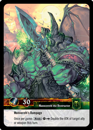 Mannoroth the Destructur gewann Stephans Heldenwahl!