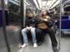 Nach dem Event ging's ab in die U-Bahn...