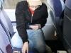 Schmalle beim Zocken im Zug